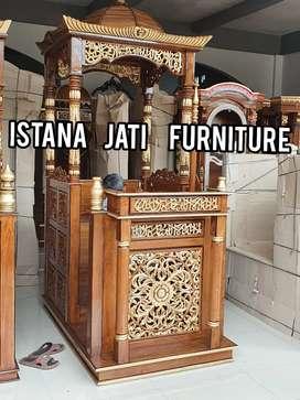 Mimbar masjid mimbar ukiran mimbar jati