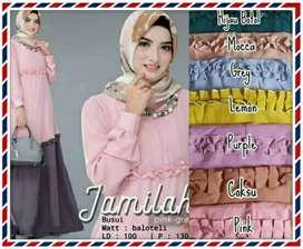 Gamis Mosscrepe Jamilah Aceh