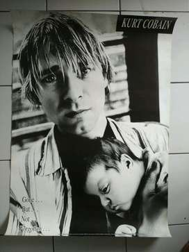 Poster Kurt Cobain and Son.