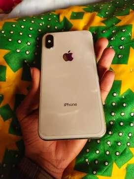 IPhone x 64 GB silver colour