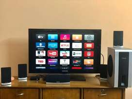 Samsung LCD 32 HD, FREE 5.1 channel Home Theater speakers & Apple TV
