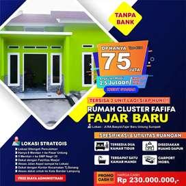 Rumah Cluster Siap Huni fafifa fajar baru kredit bisa tanpa bank