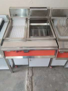Fryer 3 tube with sizzling stainless steel