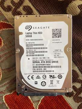 Seagate 500gb laptop thin hdd