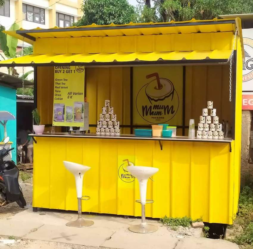 Box container, container booth cafe, booth minuman, booth thai tea 0
