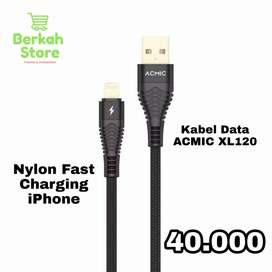 Kabel data Nylon ACMIC Gold Plated&Double Braided Fast Charging iPhone