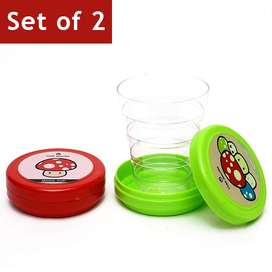 Set of 2 Folding Collapsible Magic Cup
