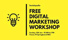 digital n social marketing..free classes for female freshers