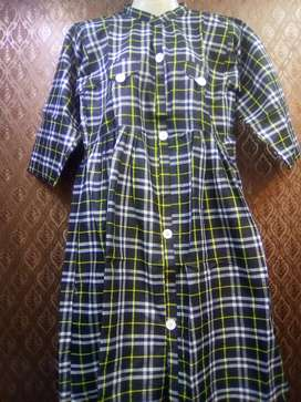 Cotton kurti check shirt