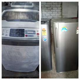 Combo pack fridge& washing machine with warranty