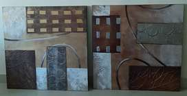 Imported Modern Art Wall paintings on Canvas from Home Centre Dubai.