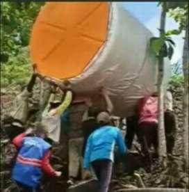 Gudang tandon air 1000 liter Merk new 88 tebal bahan plastik pvc