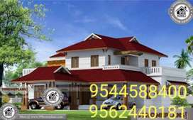 20 Cent plot with 5700 sq. ft 4BHK House in Thangassery