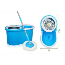 Easy Mop – Double Drive Steel bucket Spin mop 360 degree rotation In P