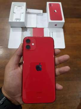 iPhone 11 64GB Red Product, Resmi Indonesia, Pemakaian 2 Minggu