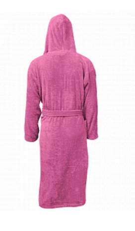 Free delivery Unisex Bathrobe With Cap, Pink