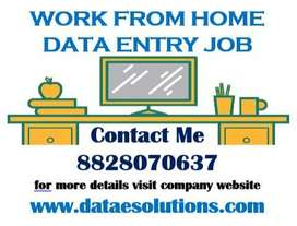Computer Based Home Work Data Entry Jobs Online and Offline Projects