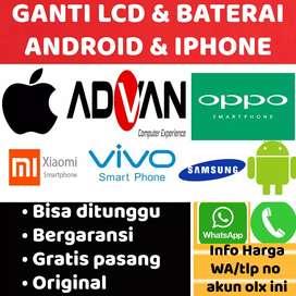 Trsedia smua LCD &Baterai Android dan iPhone. Xiaomi,Oppo,Vivo,Samsung