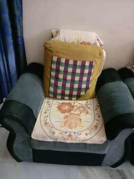 Sofa set with cushions