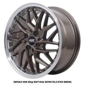 Jual Velg SEPULU HSR R16X7 H8X100-114,3 ET40 BRZML untuk Avanza Mazda