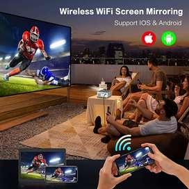 200 inch 4k Smart Projector Watch TV Movies Cricket on Big Screen