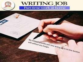 Part time job Hand writing work.