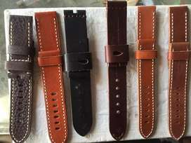 hand watch Leather Belt Strap (italy) imported