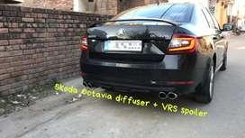 Skoda Octavia vrs spoiler and Diffuser combo