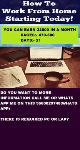 Part time job with data entry earn 23,000
