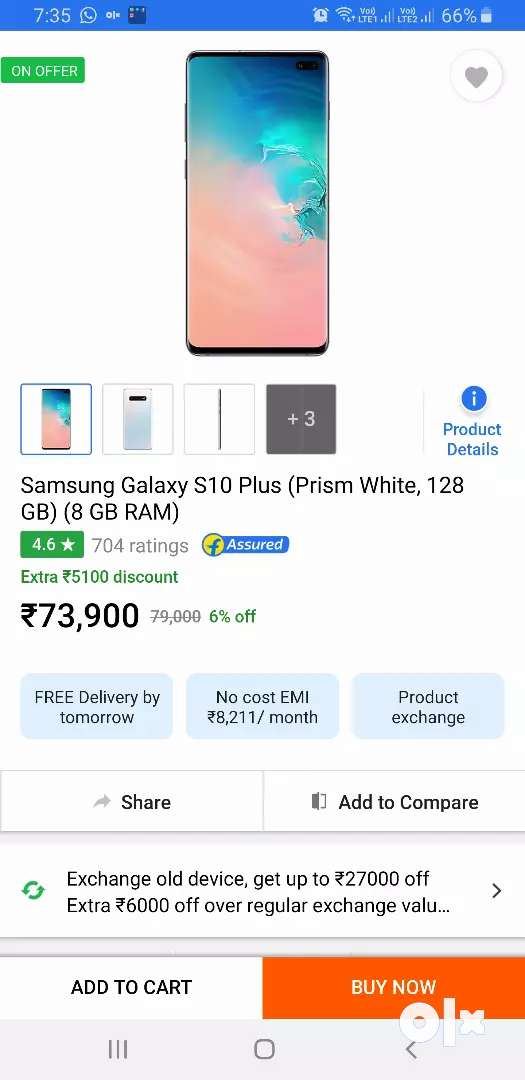 Samsung S10 Plus 128Gb Sealed pack with 1 year warranty 0