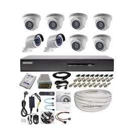 Paket lengkap 8 camera cctv Hikvision 2Mp Gratis pasang terima beres.