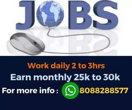 Best home jobs. Earn monthly 25,000 to 30,000. Limited vacancies