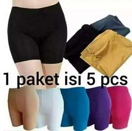 COD - 5pcs short wanita pendek