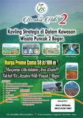 Kavling Murah 5 Menit ke Lokasi Puncak 2 Bogor