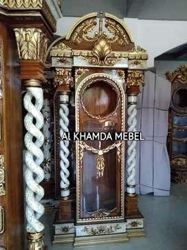 Ready lemari Jam Material Kayu Jati #66