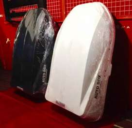 Roofbox + crossbar bagasi mobil pajero fortuner innova rush terios dll