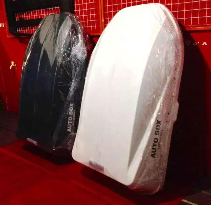 Roofbox + crossbar bagasi mobil pajero fortuner innova rush terios dll 0