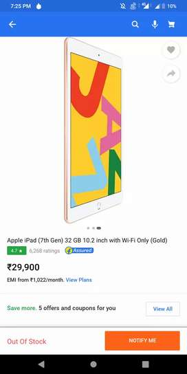 Apple iPad 7th Generation (32GB ,Wifi Gold)