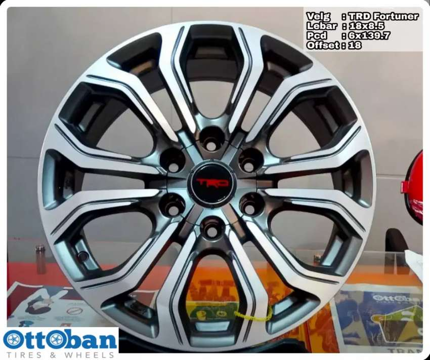 Velg mobil Fortuner Pajero Everest TRD Fortuner R18X8.5 hole 6x139.7 0