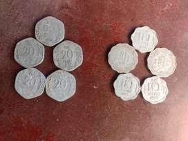 10,20 paise 10 aluminium coin