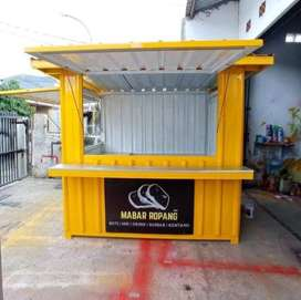 BIG SIZE ! booth container, gerobak container