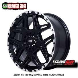 Velg racing ring 16 HSR Wheel buat Avanza Mobilio Vios Yaris Jazz dll