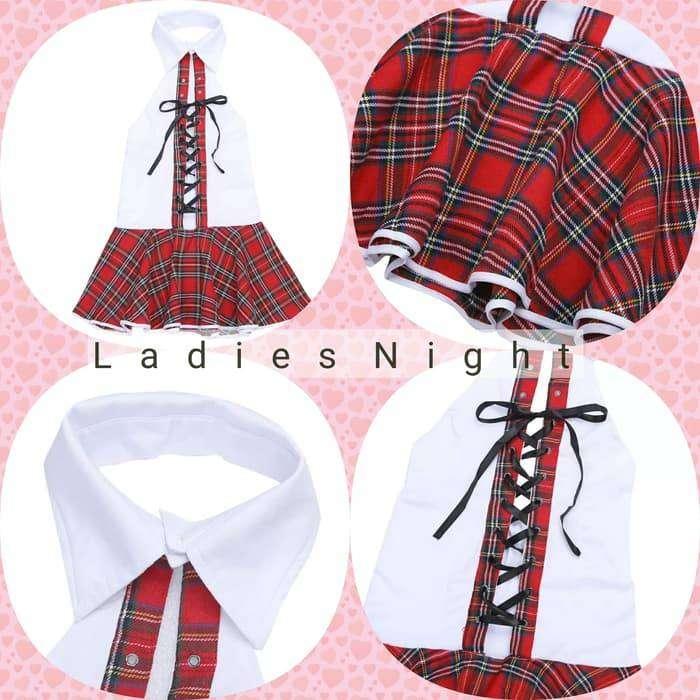 Kheil Student Costume Cosplay Lingerie Kostum Sekolah Panggung Dancer 0