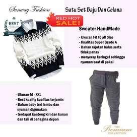 AM00247 Celana Setelan Satu set Sweater dan celana jogger