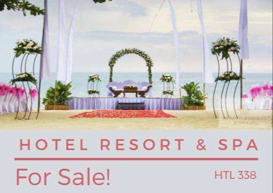 HTL 338 Hotel dan spa di jual posisi pinggir pantai bali