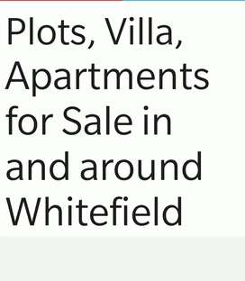 Gated community Plots and Apartments for sale in Whitefield & hme loan