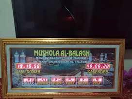 Jual jam sholat digital dan karpet masjid
