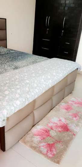 King Size quilted Modern bed with storage