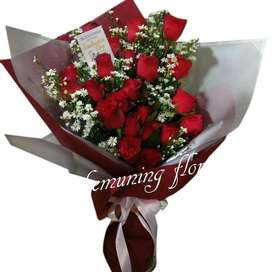Buket Bunga Mawar Asli / Fresh Kirim Se-Jawa Timur