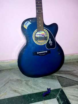 Guitar none electric and electric with tuner